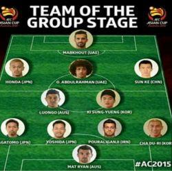 پور علی گنجی تنها نماینده ایران در تیم منتخب آسیا در مرحله گروهی.