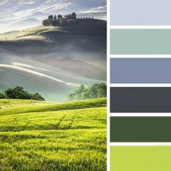 یک ترکیب #رنگ فوق العاده که از #طبیعت الهام گرفته شده...