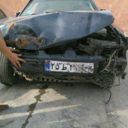 ماشینمون بعد از تصادف