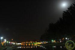 پل هفت چشمه و ماه گرفتگی