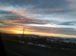 طلوع زیبای آفتاب درآسمان سنندج