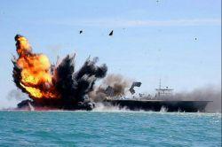نمایش قدرت نیروی دریایی سپاه پاسداران انقلاب اسلامی در تنگه هرمز(حمله به ماکت ناو هواپیما بر آمریکا)