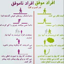 افراد موفق و ناموفق چه عادتهایی دارند... #موفقیت