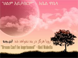 """Dream Can't be imprisoned"" Abel Wabella"