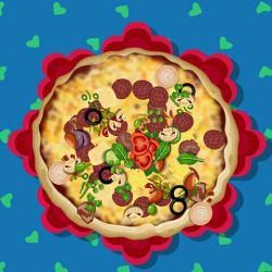 بفرمائید پیتزا .... خودم درست کردم....