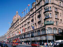 Shopping at Harrods, London, England