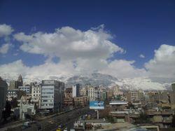 هوای تمیز یک روز زمستانی تهران