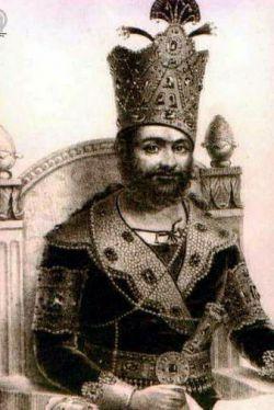 محمدشاه قاجار در روز تاجگذاری
