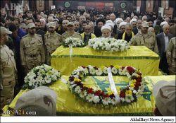 مراسم تشییع دو شهید والامقام، «محمد حسین برو» و «طارق عبدو جبق» با حضور باشکوه مردم ضاحیه بیروت ، اما تفاوت دو تشیع جنازه یکی در ایران دیگری در لبنان
