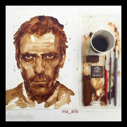 هنرکده.نقاشی باقهوه