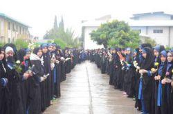 مراسم تشیع شهدای گمنام در دبیرستان علوم معارف دخترانه ساری