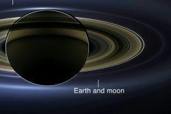 زمین از فاصله ۵'۱ میلیارد کیلومتری ' عکس توسط کاوشگر کاسینی زحل
