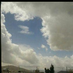 تصویر نقشه ایران توسط ابرها در روز 12 فروردین روز جمهوری اسلامی در  شهرستان بوانات فارس