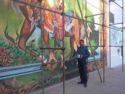 هنر دست -نقاشی ضامن اهو سبزوار - هنر مند استاد باغانی - 09155723225 - گروه تندیس هنر