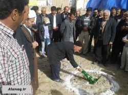 مراسم کلنگ زنی حسینیه اعظم حضرت علی اکبر (ع) آلانق