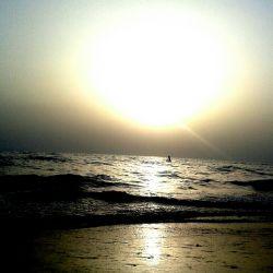 غروب زیبای خلیج فارس . جمعه 4  اردیبهشت 94