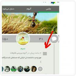روی سه خط  کلیک کنید گزینه ذخیره  را بزنید عکس در گالری موبایلتون ذخیره میشود .