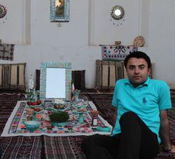 زاهدان. من و سفره هفت سین خانه تاریخی ابویی. فروردین 94