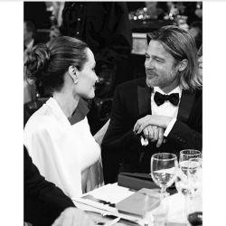:)  brad pitt and jolie  #Brad_Pitt #Academy_Awards #The_Oscars