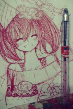 یه نقاشی دیگم با خودکار قرمز