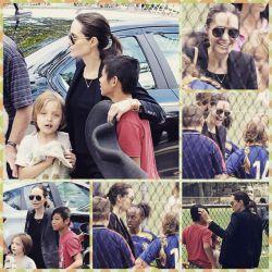 عکس جدید منتشر شده از آنجلینا و بچه هاش در 16 *5* 2015