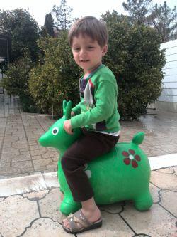 آقا طاها در حال گوزن سواری (پسرعمو)