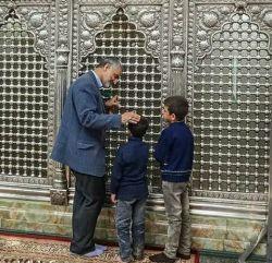 سردار سلیمانی با فرزندان شهدای مدافع حرم