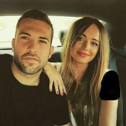 تصویر|جوردی آلبا و دوست دخترش