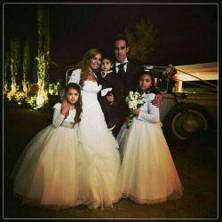 عروسی کلودیو براوو و همسرش.به همراه فرزاندان
