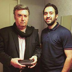 """دومین افتخار همكارى با عالیجناب ناصر طهماسب بزرگمرد هنر دوبله """"مثل مجسمه"""" ❤️"""