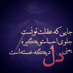 تنهایم… اما دلتنگ کسی نیستم خسته ام… ولی به تکیه گاه نمی اندیشم چشمهایم تر هستند و قرمز ولی رازی ندارم چون مدتهاست دیگر کسی را خیلی دوست ندارم…..