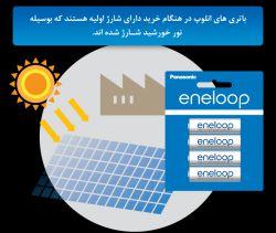 -    اِنِلوپ آماده برای استفاده باتریهای انلوپ از قبل بوسیله انرژی خورشید شارژ شدهاند و پس از خریداری میتوان در همان لحظه از آنها استفاده کرد و دیگر نیازی  به شارژ اولیه ندارند. شارژ اولیه باتریها توسط انرژی خورشید در راستای تعهدات پاناسونیک به حفظ محیط زیست میباشد.