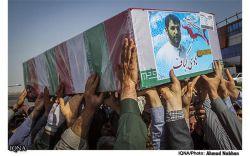 پیکر سردار شهید حاج هادی کجباف پس از 50 روز از شهادتش به ایران برگشت و در اهواز تشییع شد.