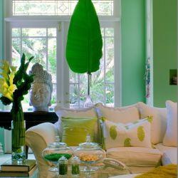 استفاده از رنگ سبز در طراحی اتاق نشیمن