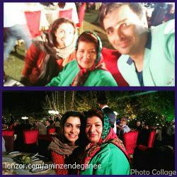 همراه بانو پوران درخشنده و الیکای عزیز در شب اعطای جوایز جشن حافظ