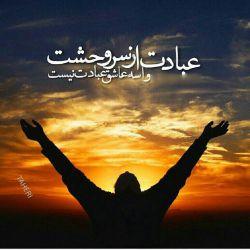 عبادت از سر وحشت، واسه عاشق عبادت نیست، پرستش راه تسکینه،پرستیدن تجارت نیست