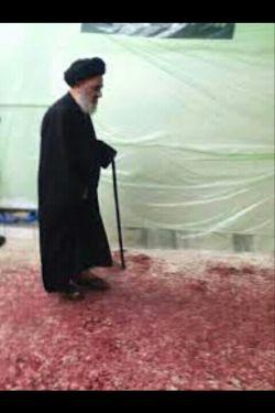 صادق شیرازی در حال راه رفتن در زمین پر از خون در مراسم قمه زنی  -این است مذهب تشیع؟؟؟