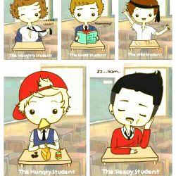 1D   in school:)
