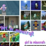 Girl in minecraft